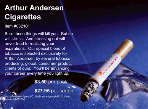 Arthur Andersen Souvenirs & Gifts. Cigarettes