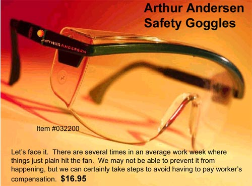 Arthur Andersen Souvenirs & Gifts. Safety Goggles