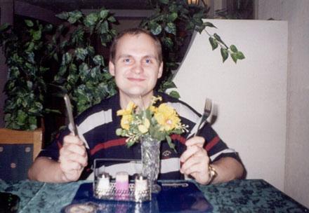 Портрет сидящего в Ресторане
