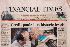 Financial Times 18th September 2008, cover