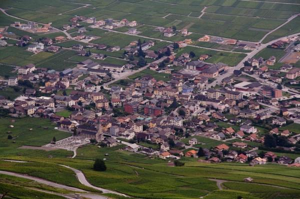 Городок, вид сверху