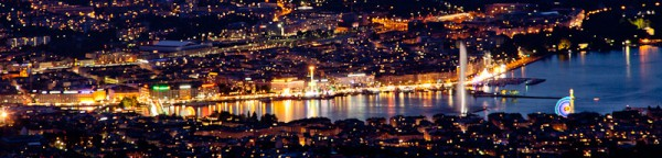 Swiss National Holiday, Geneva city view at night
