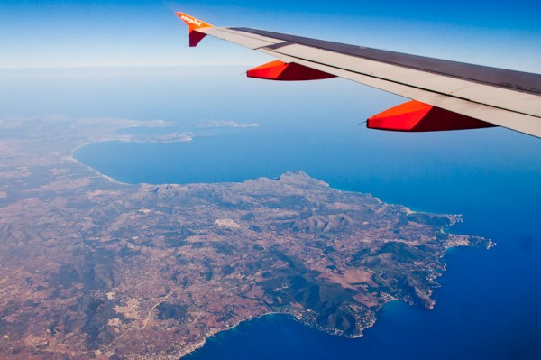 Пальма де Майорка, Вид из самолёта