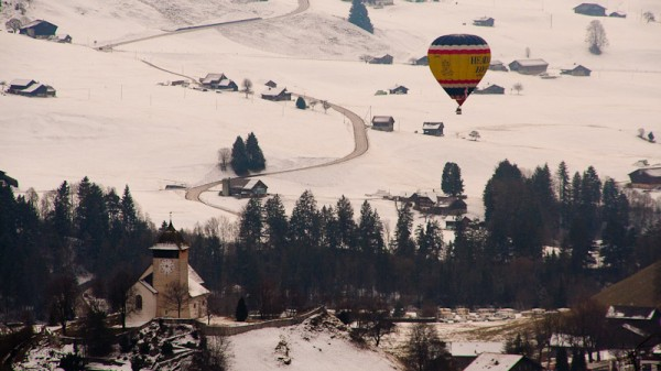 Switzerland, Baloon Festival, Chateau d'Oex